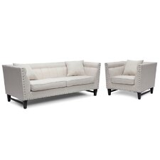 Baxton Studio Stapleton Modern Sofa and Chair Set
