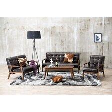 Baxton Studio Mid Century Masterpieces 3 Piece Sofa Set
