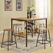 Baxton Studio Vintner 5 Piece Pub Table Set