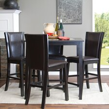 Baxton Studio Wing 5 Piece Counter Height Dining Set