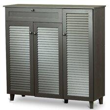 Baxton Studio Pocillo 20-Pair Shoe Storage Cabinet
