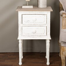 Baxton Studio 2 Drawer Nightstand