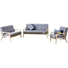 Baxton Studio Mid Century Timor 3 Piece Sofa Set