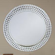 Baxton Studio Gavell Round Wall Mirror