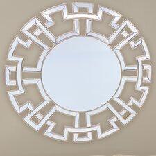 Baxton Studio Ulmer Round Wall Mirror with Golden Trim