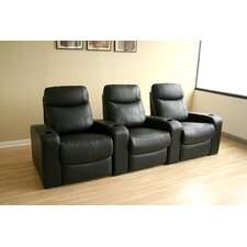 Baxton Studio Home Theater Recliner (Row of 3)