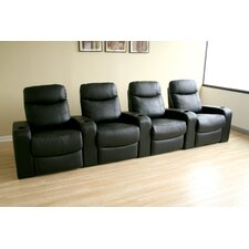 Baxton Studio Home Theater Recliner (Row of 4)