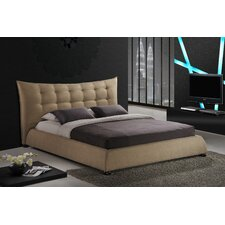 Baxton Studio Marguerite Upholstered Panel Bed