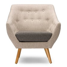 Baxton Studio Astrid Mid-Century Fabric Arm Chair