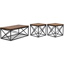 Baxton Studio 3 Piece Coffee Table Set