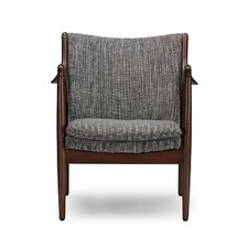 Baxton Studio Shakespeare Mid-Century Upholstered Leisure Arm Chair