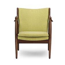 Baxton Studio Shakespeare Mid-Century Upholstered Leisure Arm Chair