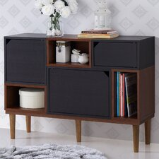 Baxton Studio Anderson Retro Oak and Espresso Wood Sideboard Storage Cabinet