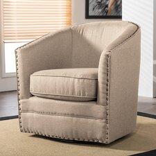 Baxton Studio Classic Retro Upholstered Barrel Chair