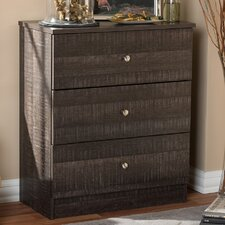 Baxton Studio 3 Drawer Chest