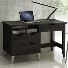 Baxton Studio Home Office 3-Drawer Writing Desk