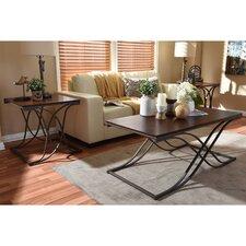 Baxton Studio Terrance 3 Piece Coffee Table Set
