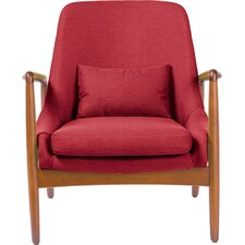 Baxton Studio Carter Mid-Century Modern Upholstered Leisure Arm Chair