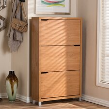 Baxton Studio Simms Modern 18-Pair Shoe Storage Cabinet