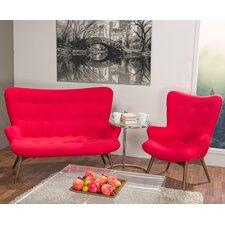 Baxton Studio Solaris 2 Piece Loveseat & Arm Chair Set