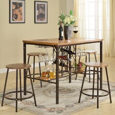 Baxton Studio Vintner 5 Piece Pub Table Set