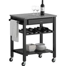 Baxton Studio Quebec Wheeled Kitchen Cart