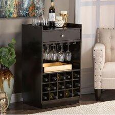 Baxton Studio 15 Bottle Tabletop Wine Bar