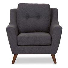 Baxton Studio Mercede Upholstered Club Chair