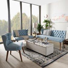 Baxton Studio 3 Piece Living Room Set
