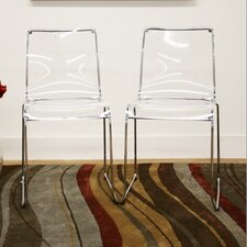 Baxton Studio Lino Dining Chair in Transparent Clear (Set of 2) (Set of 2)