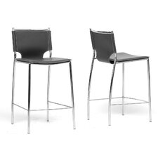 "Baxton Studio Montclare 26"" Bar Stool (Set of 2)"