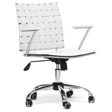 Baxton Studio Vittoria Leather Modern Conference Chair