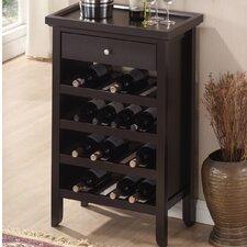 Baxton Studio Bar 16 Bottle Floor Wine Rack