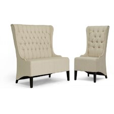 Baxton Studio Vincent  Loveseat Bench and Chair Set