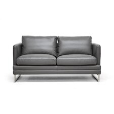 Baxton Studio Dakota Leather Loveseat