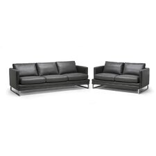 Baxton Studio Dakota Leather Sofa Set