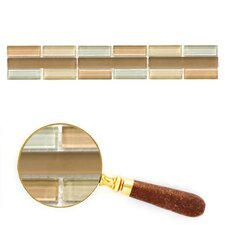 """Cristezza 11.81"""" x 1.92"""" Glass Mosaic Tile in Driftwood (Set of 5)"""