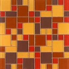 Constellation Random Sized Glass Mosaic Tile in Autumn Wind