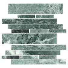 Stone Club Random Sized Mosaic Tile in Empress Green Marble