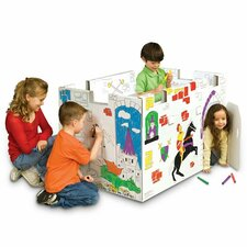 Castle with Washable Markers Playhouse