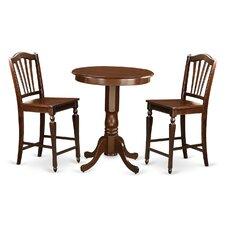 Eden 3 Piece Counter Height Pub Table Set