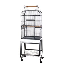 Opening Round Play Top Bird Cage with Stand