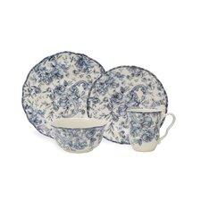 Hawthorne Blue 16 Piece Dinnerware Set