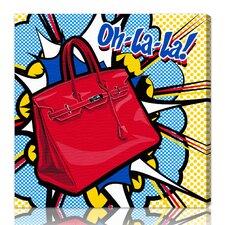 Burst Creative Oh La La Graphic Art on Wrapped Canvas