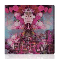 Burst Creative Sublime Illusion Graphic Art on Wrapped Canvas