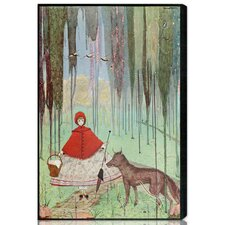 """Little Red Riding Hood"" by Olivia's Easel Canvas Art"