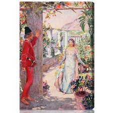"""""""The Prince Waits for the Princess"""" by Olivia's Easel Canvas Art"""