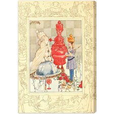 """Alice Queen of Wonderland"" by Olivia's Easel Canvas Art"
