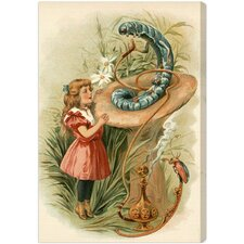 """Alice and the Caterpillar 1898"" by Olivia's Easel Canvas Art"