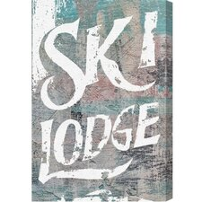Hatcher and Ethan Ski Lodge Textual Art on Canvas